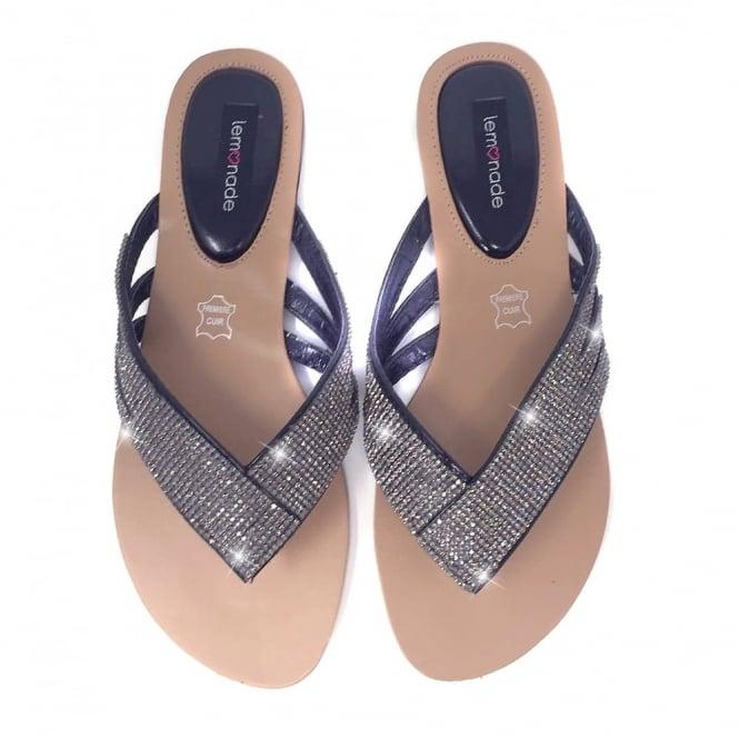 2efa350e716 Bella Crystal Flip Flops Black Diamond   SIZE ONLY