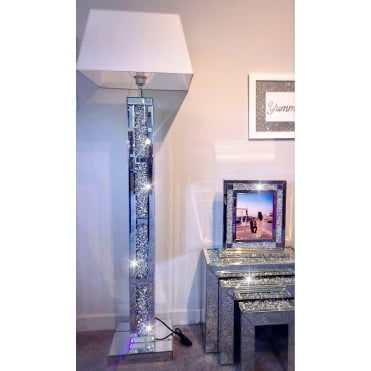Crushed Diamonds Brick Effect Floor Lamp