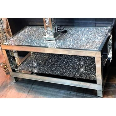 Crushed Diamonds Double Tier Coffee Table