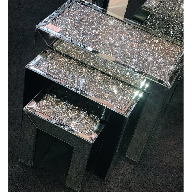 Crushed Diamonds Nest Of Three Tables Shop Home From