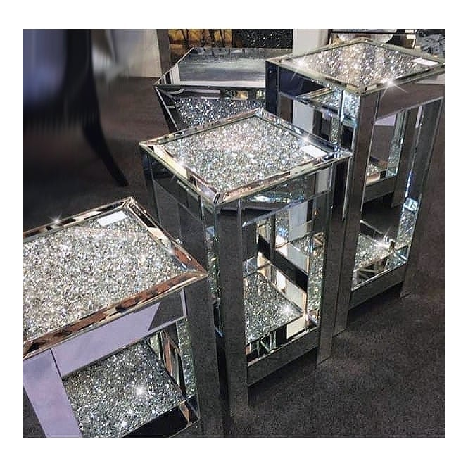 Crushed Diamonds Square Telephone Table