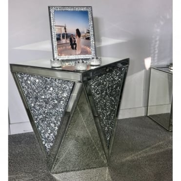Crushed Diamonds Triangle side Table