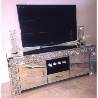 Crushed Diamonds TV Unit 1 Drawer, 2 Cabinets