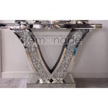 Crushed Diamonds Wave console Table