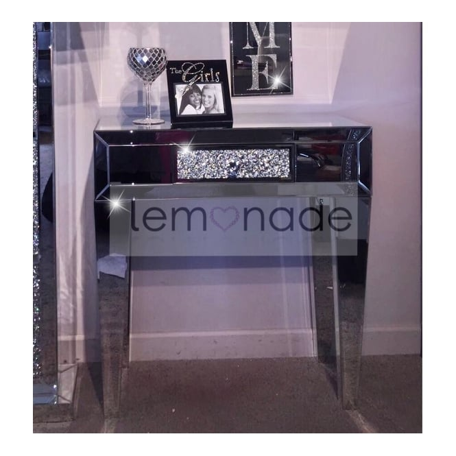 Charmant Crushed Ice One Drawer Console Table