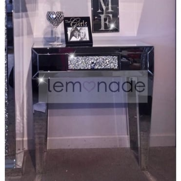 Crushed Ice One Drawer Console Table