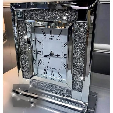 Crushed Ice Table Clock Sqaure