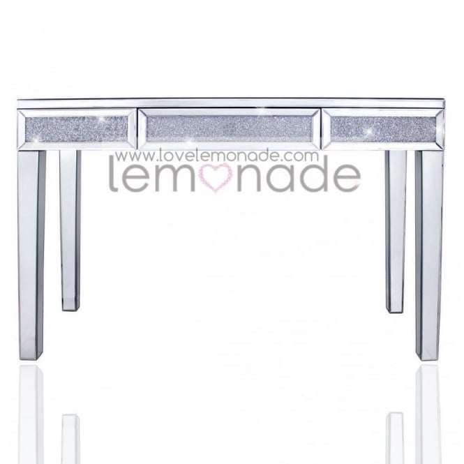 Crushed Ice Tri Bar Console Table
