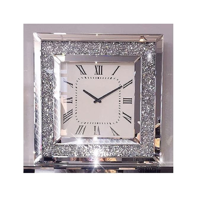 Crushed Ice Wall Clock Square Shop Home From Lemonade Uk