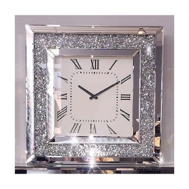Crushed Ice Wall Clock Square