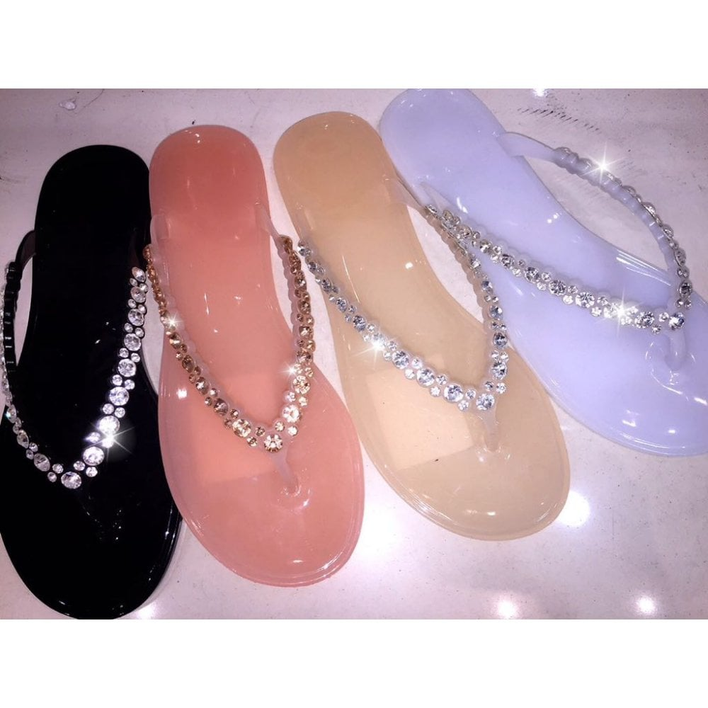 5f153a191c Crystal Bubbles Jelly Flip Flops **size 4 & 5 only** - SHOP SHOES from  Lemonade UK