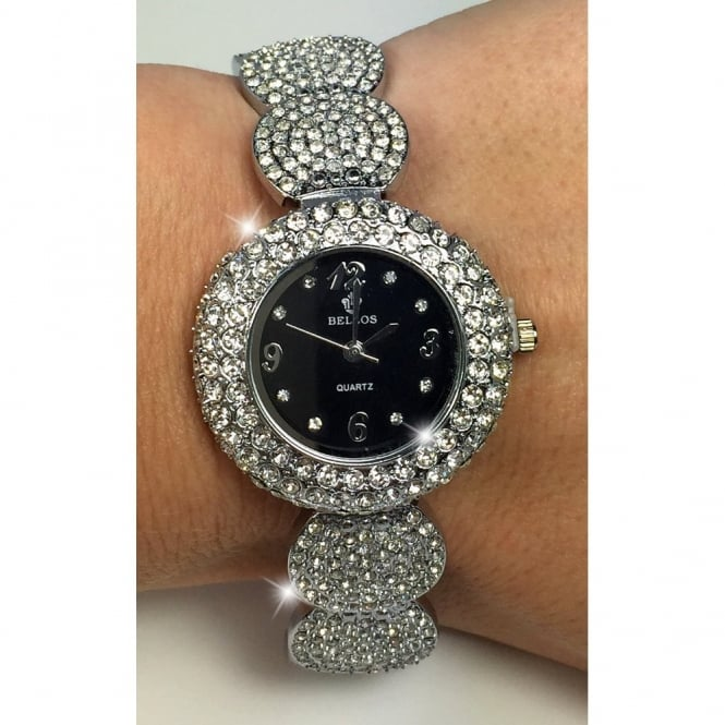 Crystal Glam Watch Silver