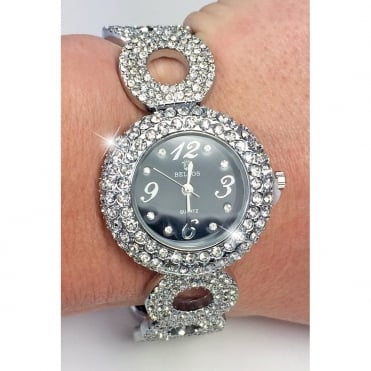 Crystal Polo watch silver