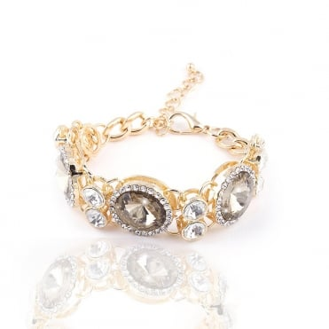 Crystal Sparkly Deluxe Gold Bracelet