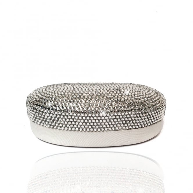 Crystal Sparkly Sunglasses Case Silver