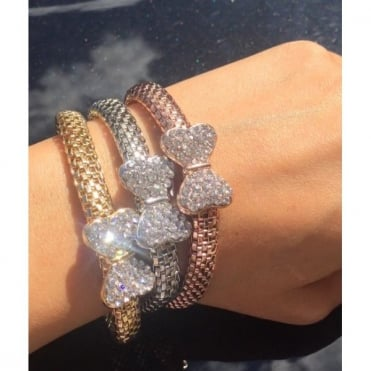 Crystal Stretch Bow Bracelets