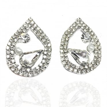 Crystal Teardrop 'Blind Date' Earrings Silver