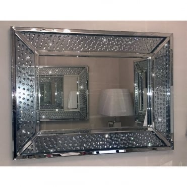 Floating Diamond Rectangle Mirror Large