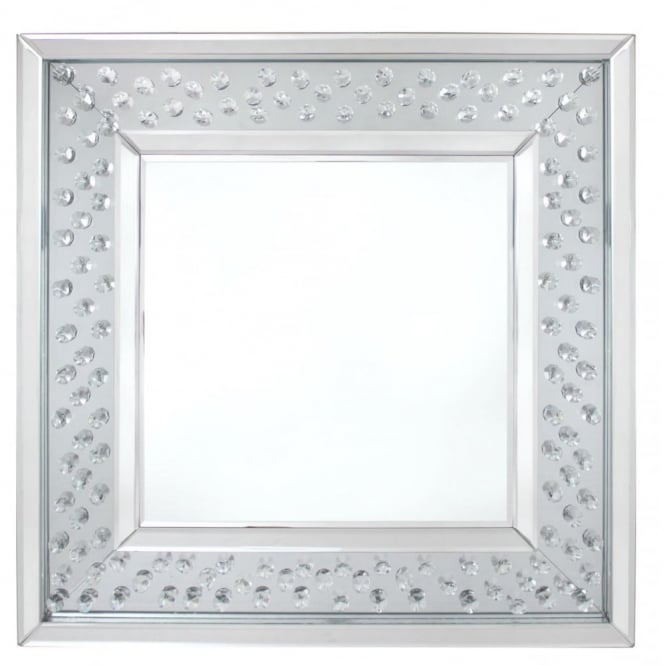Floating Diamond Square Mirror Small