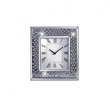 Floating Diamond Wall Clock Square