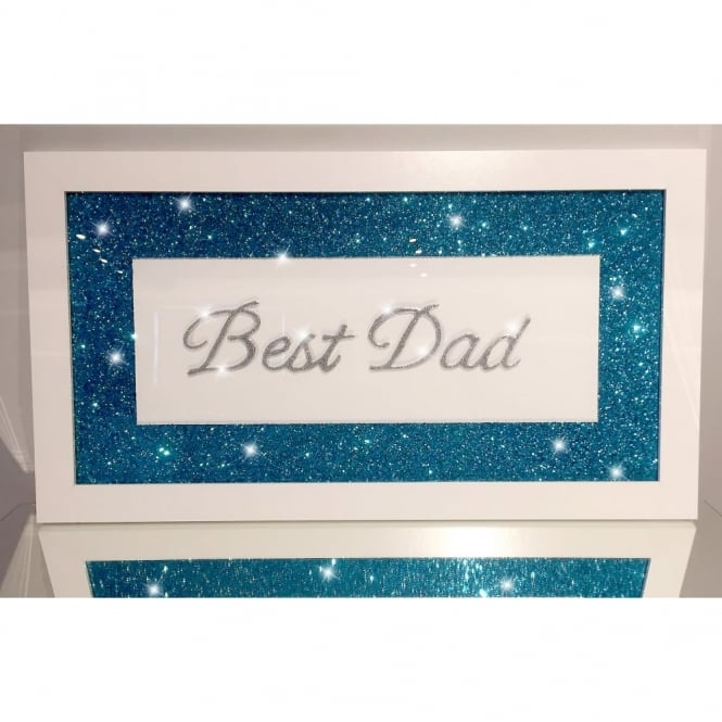 Glitter Pic - Best Dad Blue
