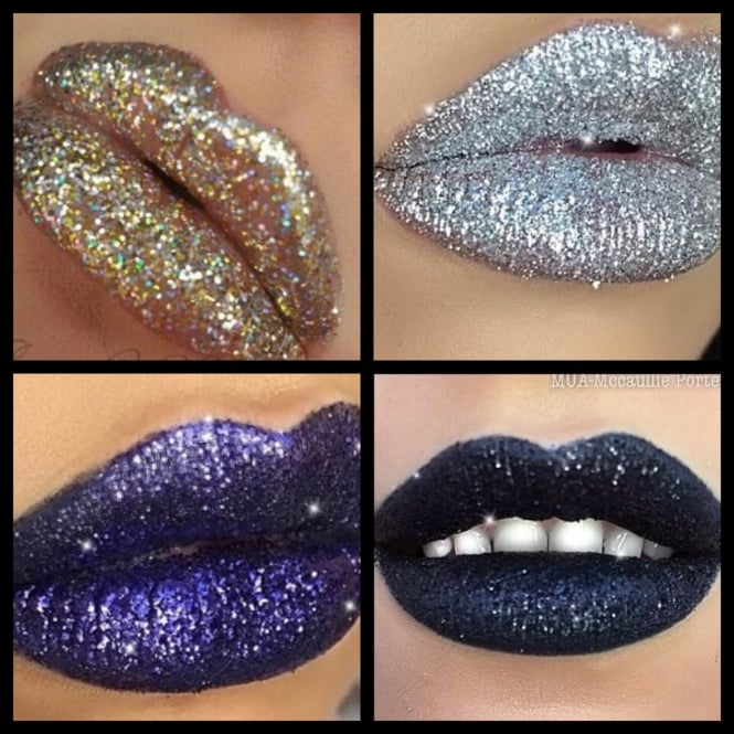 HALLOWEEN Special offer Set of 4 Glitter lips - Includes Applying Gel