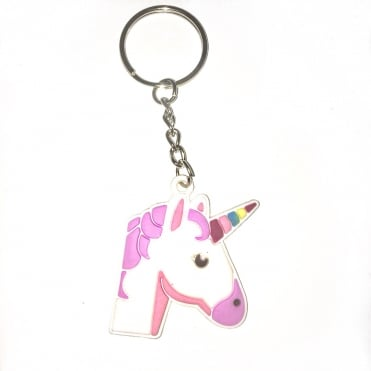 Lemonade Ariel Unicorn Rubber Keyring