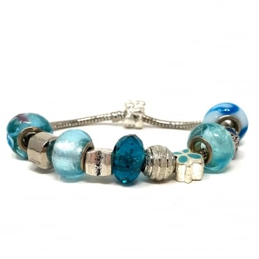 Lemonade Assorted Charms Bracelet Blue