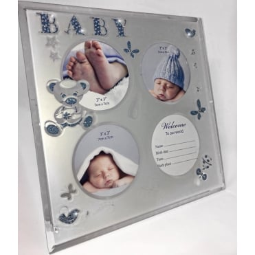 Lemonade Baby Boy Blue Glitter Frame