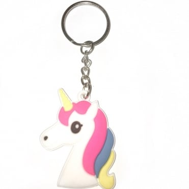 Lemonade Baby Unicorn Rubber Keyring