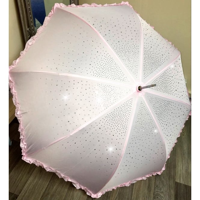 Lemonade Bling Crystal Umbrella Baby Pink