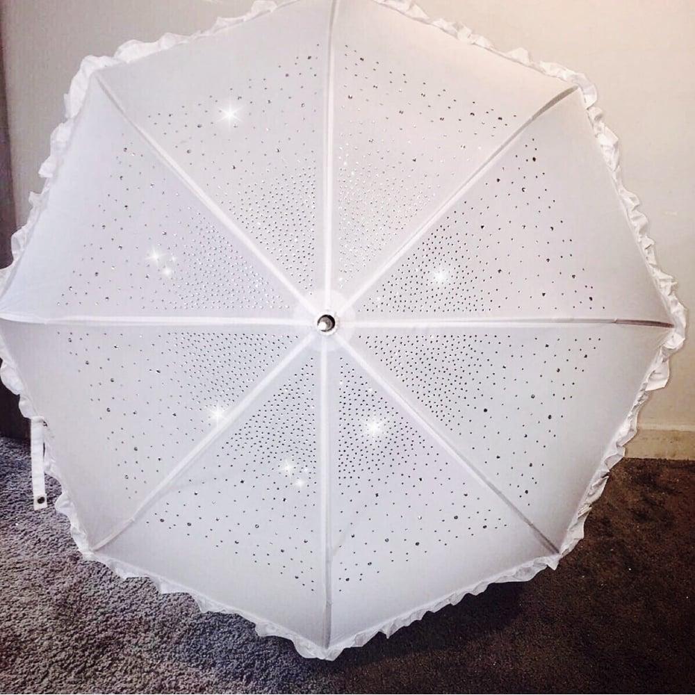 Lemonade Bling Crystal Umbrella White Shop Accessories