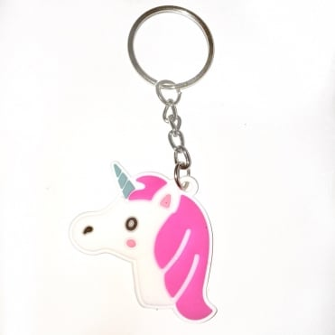 Lemonade Candy Unicorn Rubber Keyring