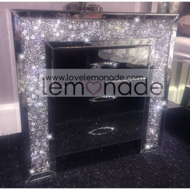 Lemonade Crushed Diamonds Bedside Table