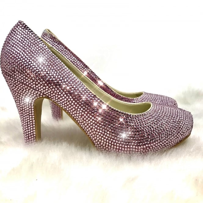 "Lemonade Crystal 4"" Heels Baby Pink SIZE 5 ONLY"