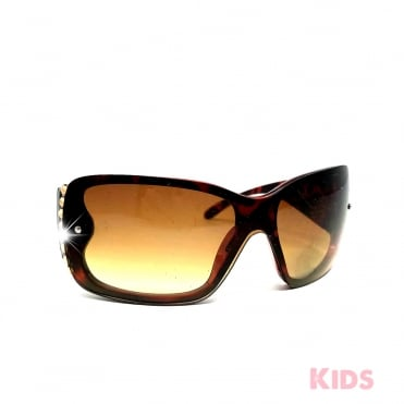 Lemonade Crystal Child's Sunglasses Leopard and Gold
