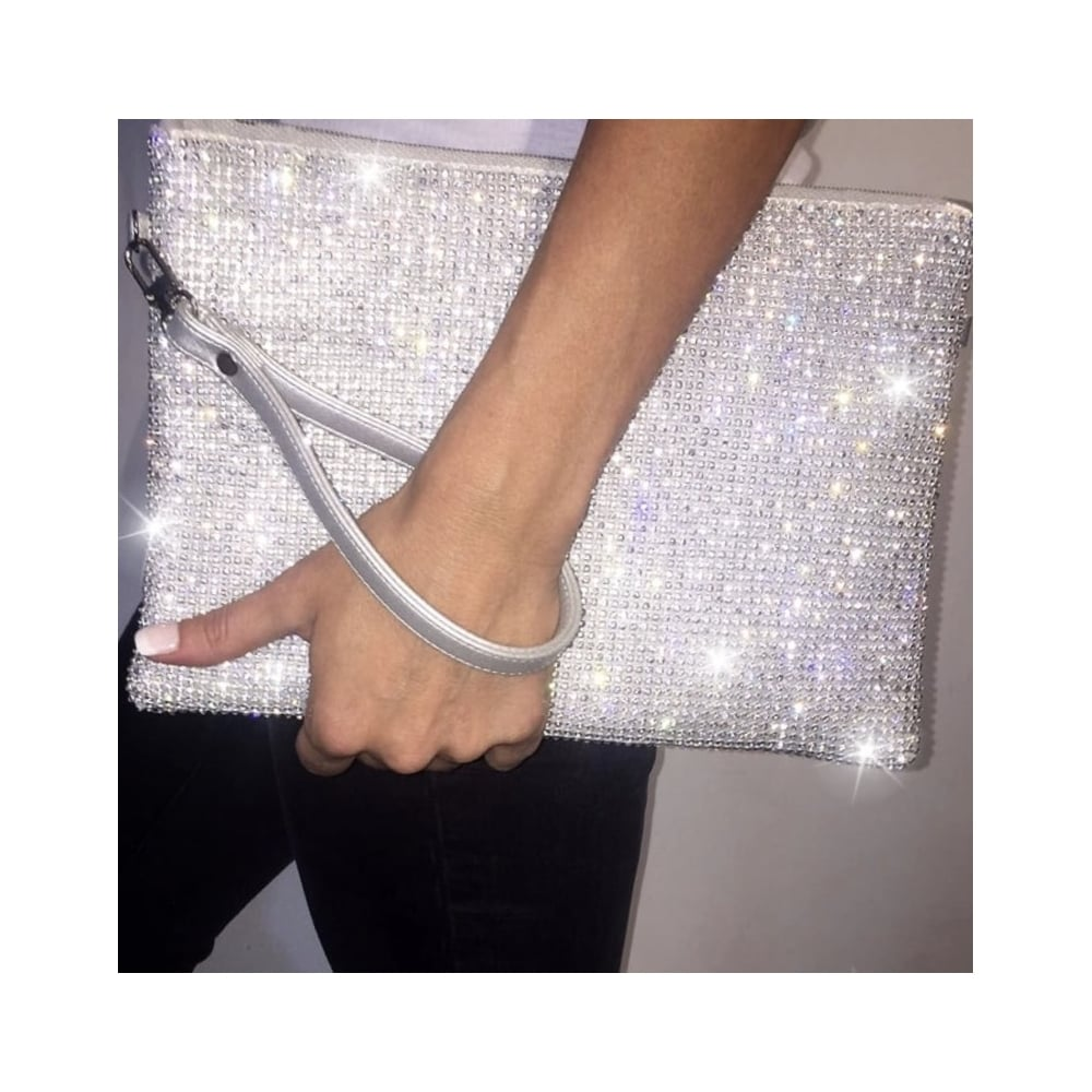 Lemonade Crystal Choose How To Wear Me Clutch Bag Silver ...