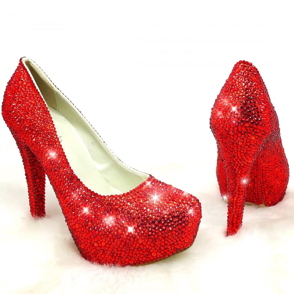 5cee2e485 Lemonade Crystal Couture Heels Red     SIZE 8 ONLY     - SHOP SHOES ...