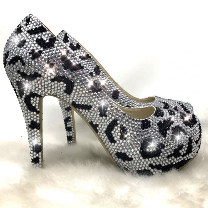 Lemonade Crystal Couture Heels Wild ** SIZE 7 ONLY **