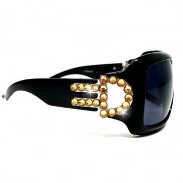 Lemonade Crystal D Sunglasses Black and Gold