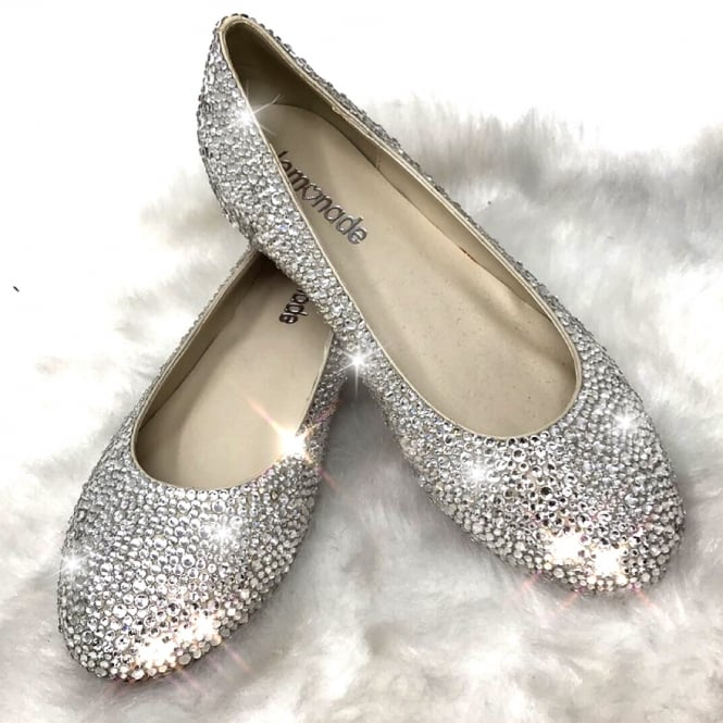 Lemonade Crystal Dolly Red Sole Shoes ** SIZE 4 ONLY **