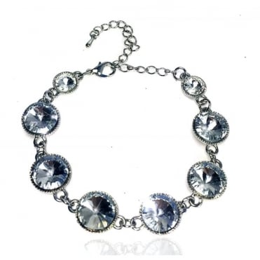 Lemonade Crystal Dotty Bracelet Silver
