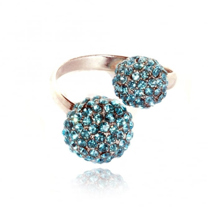 Lemonade Crystal Double Fizzball Ring Blue