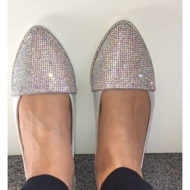 Lemonade Crystal Elegance Dolly Shoes Silver **SIZE 3 ONLY**