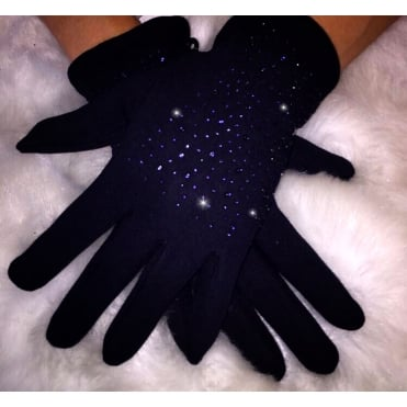 Lemonade Crystal Gloves Navy Blue