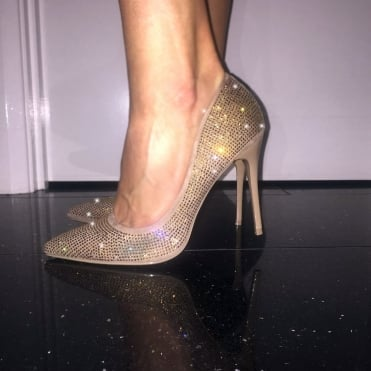 fc2db8f632694e Lemonade Crystal Heels Roxy Gold    SIZE 3 ONLY