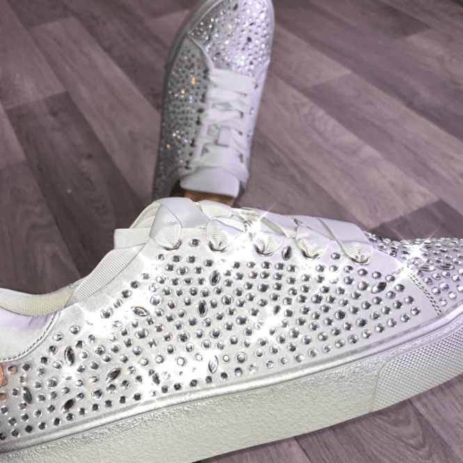 Lemonade Crystal Jazzy Diamond Sneakers Grey