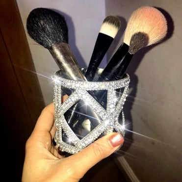 Lemonade Crystal Make Up Brush Holder
