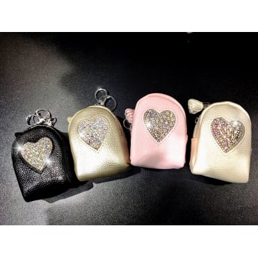 Lemonade Crystal Mini Rucksack Keyring Heart