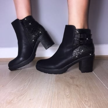 Lemonade Crystal Mosaic Boots Black